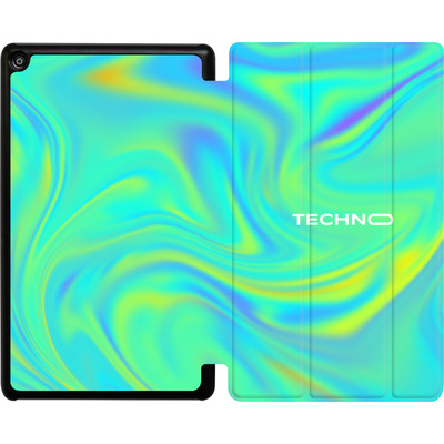 Amazon Fire HD 8 (2017) Tablet Smart Case - PSYCHEDELIC GREEN von Berlin Techno Collective