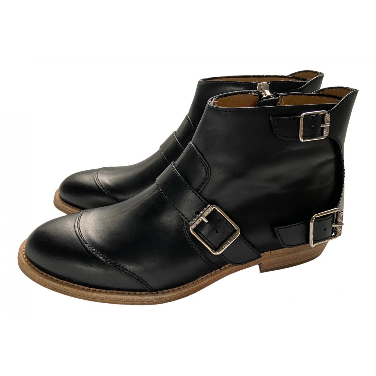 Belstaff \N Stiefeletten in  Schwarz Leder