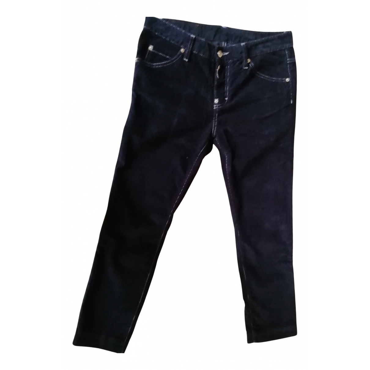 Dsquared2 N Blue Cotton Trousers for Women 38 FR