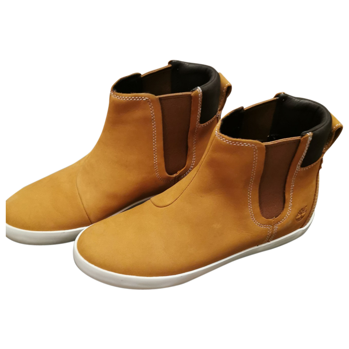 Timberland N Camel Leather Ankle boots for Women 38 EU