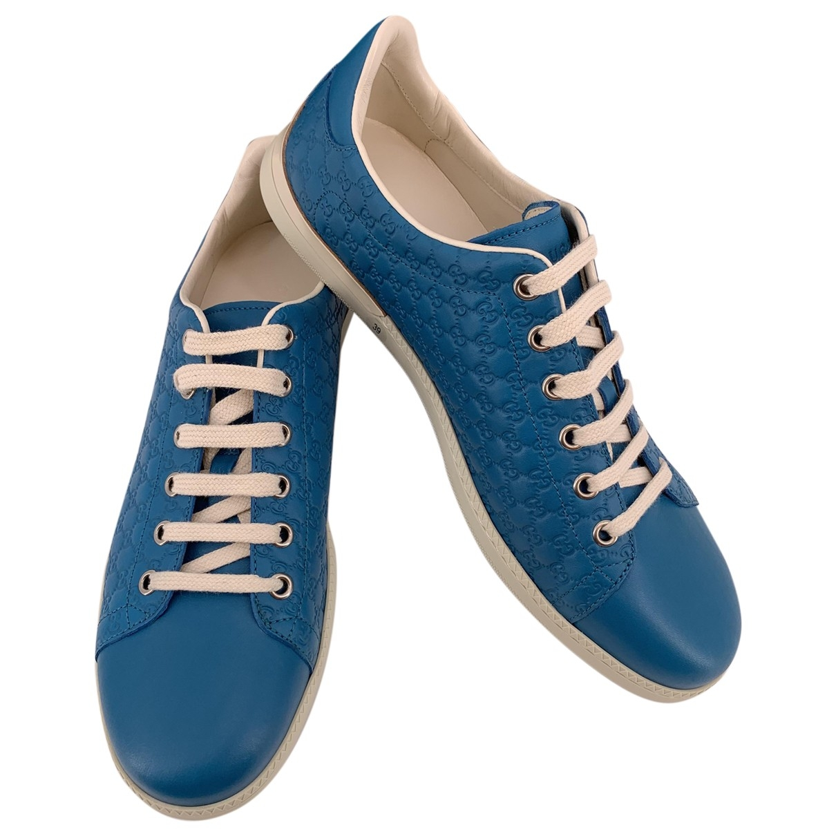 Gucci \N Sneakers in  Tuerkis Leder