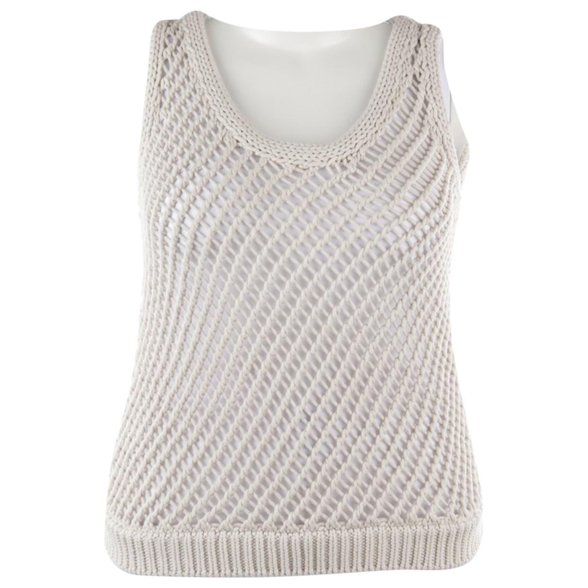 Brunello Cucinelli \N White Cotton  top for Women 40 FR