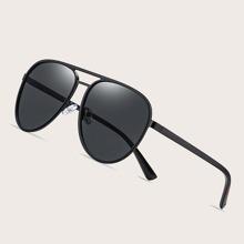 Maenner polarisierte Sonnenbrille mit flachem Oberteil