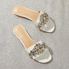 Sandalias de cocodrilo con piedra preciosa