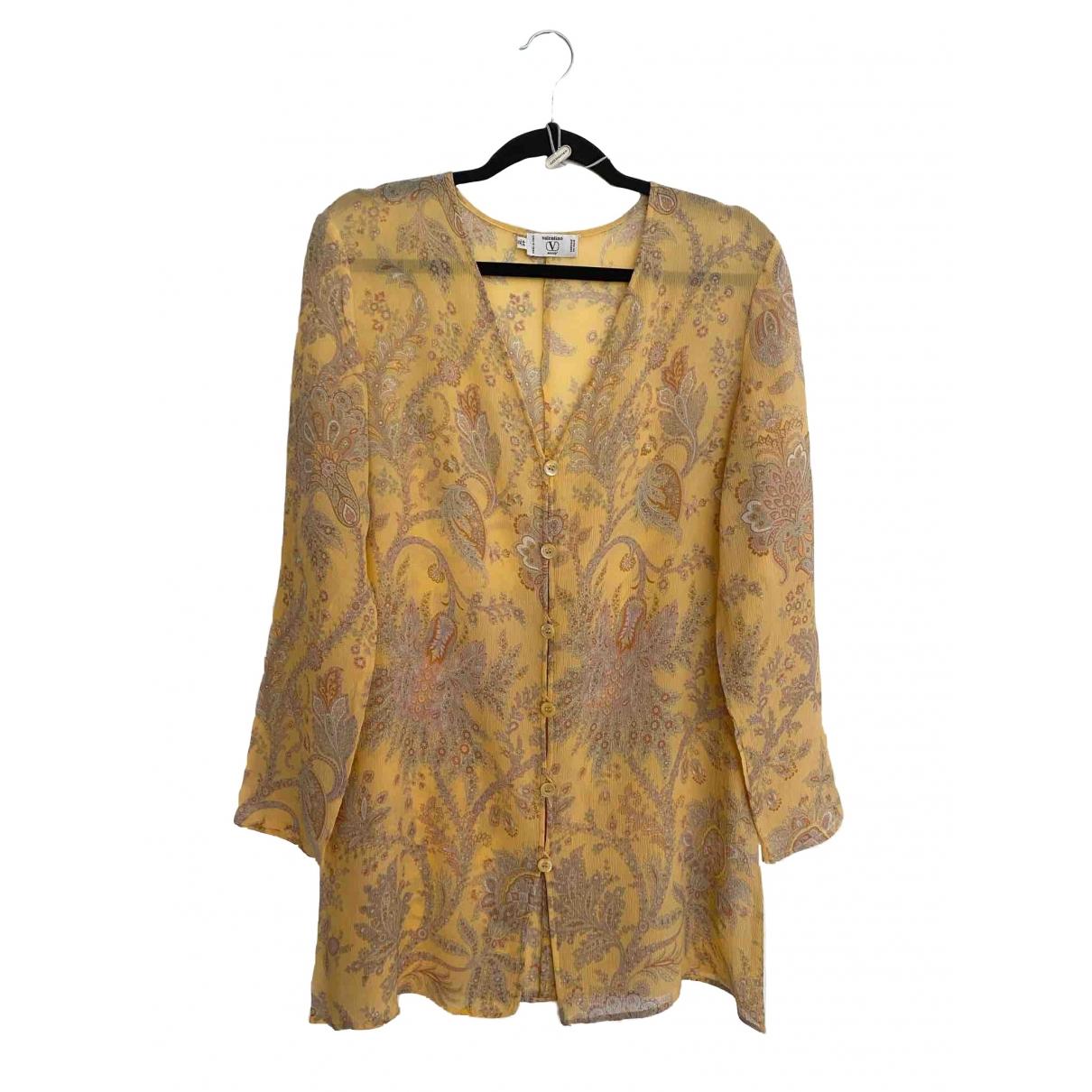 Valentino Garavani \N Yellow Silk  top for Women 10 UK