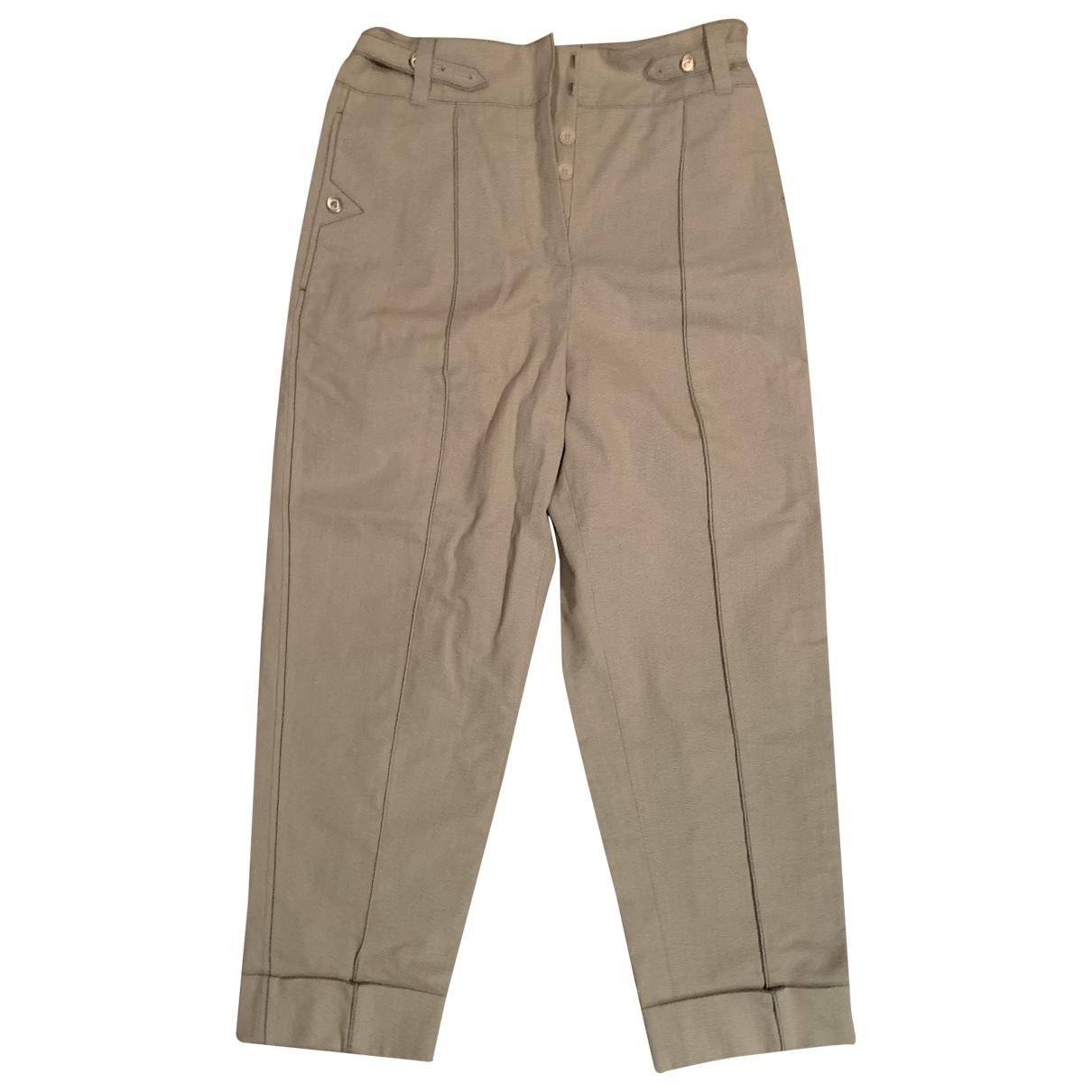 Bottega Veneta \N Camel Cotton Trousers for Women 38 IT