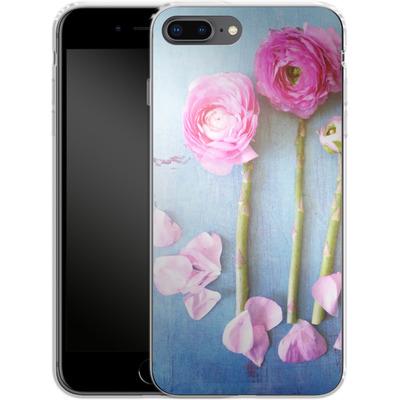 Apple iPhone 8 Plus Silikon Handyhuelle - Cottage Flowers von Joy StClaire