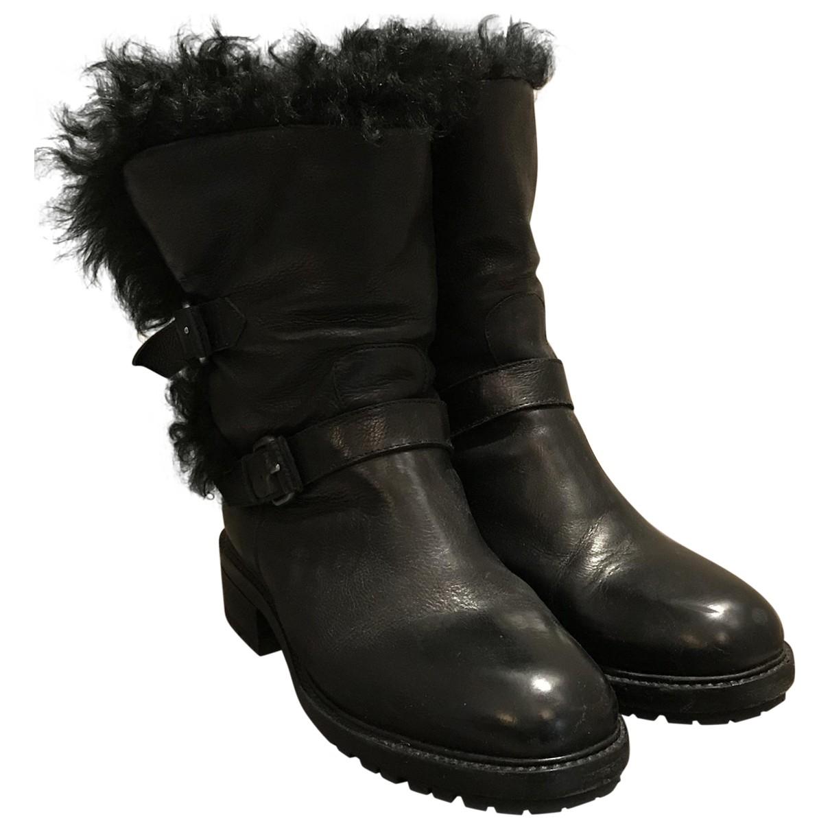 Sartore - Boots   pour femme en racoon - noir