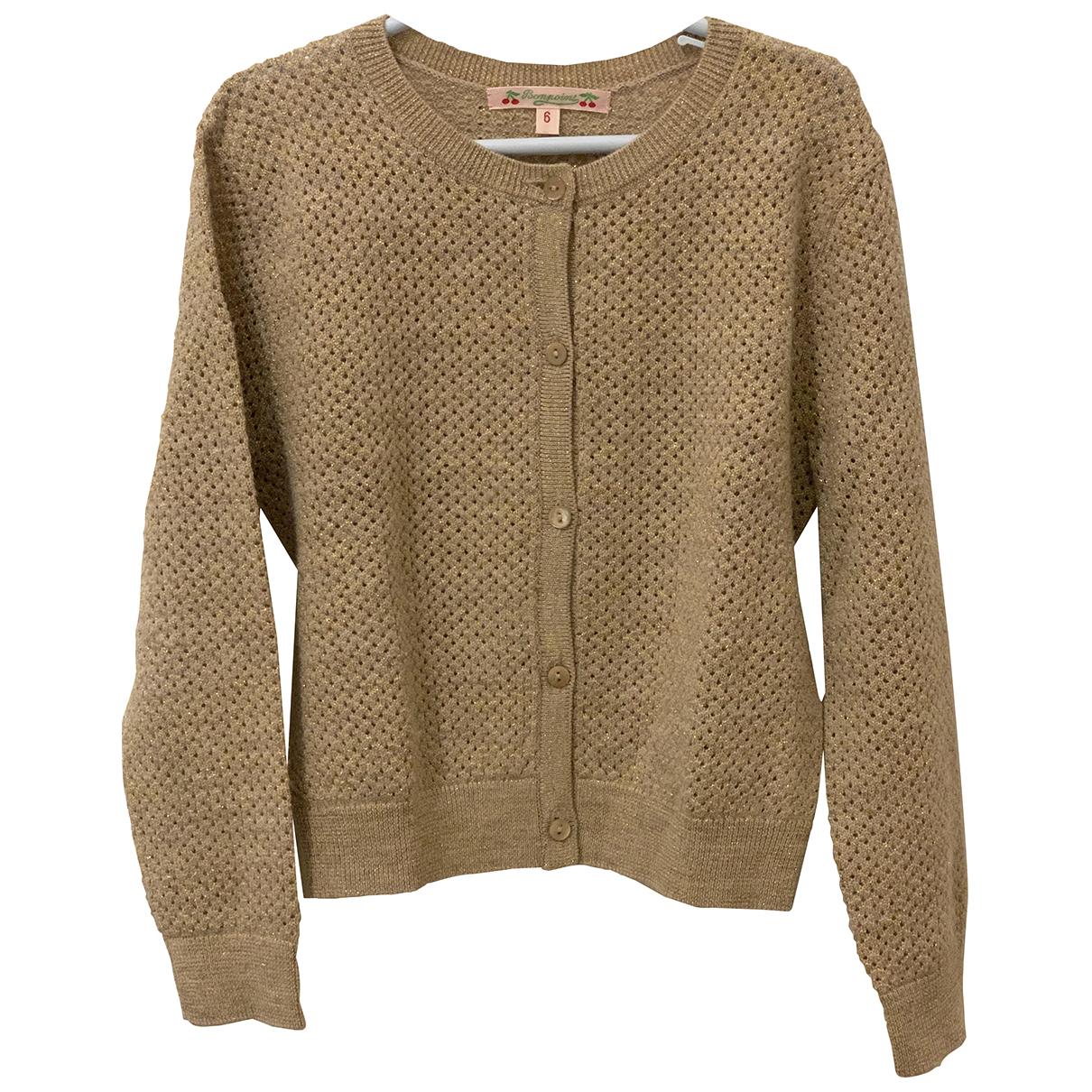 Bonpoint - Pull   pour enfant en laine - dore