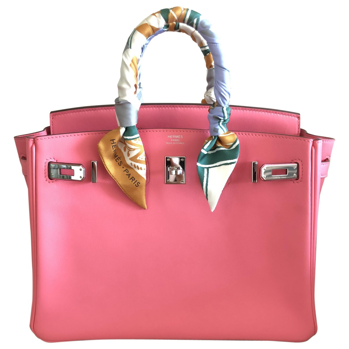 Hermès Birkin 25 Pink Leather handbag for Women \N
