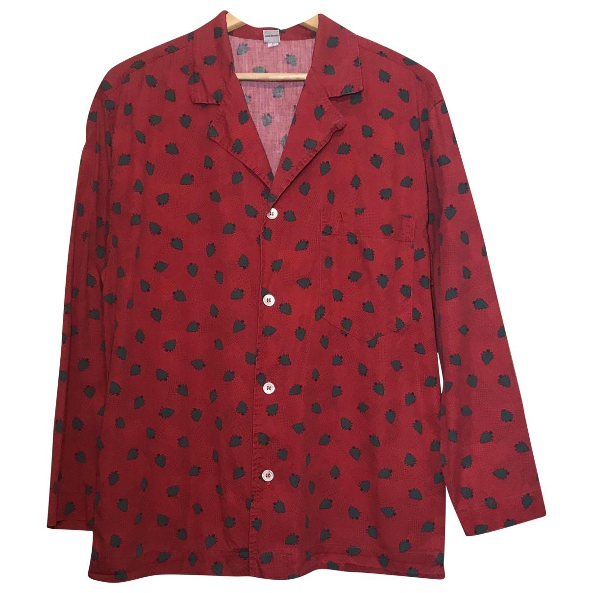 Valentino Garavani \N Red Cotton Shirts for Men M International