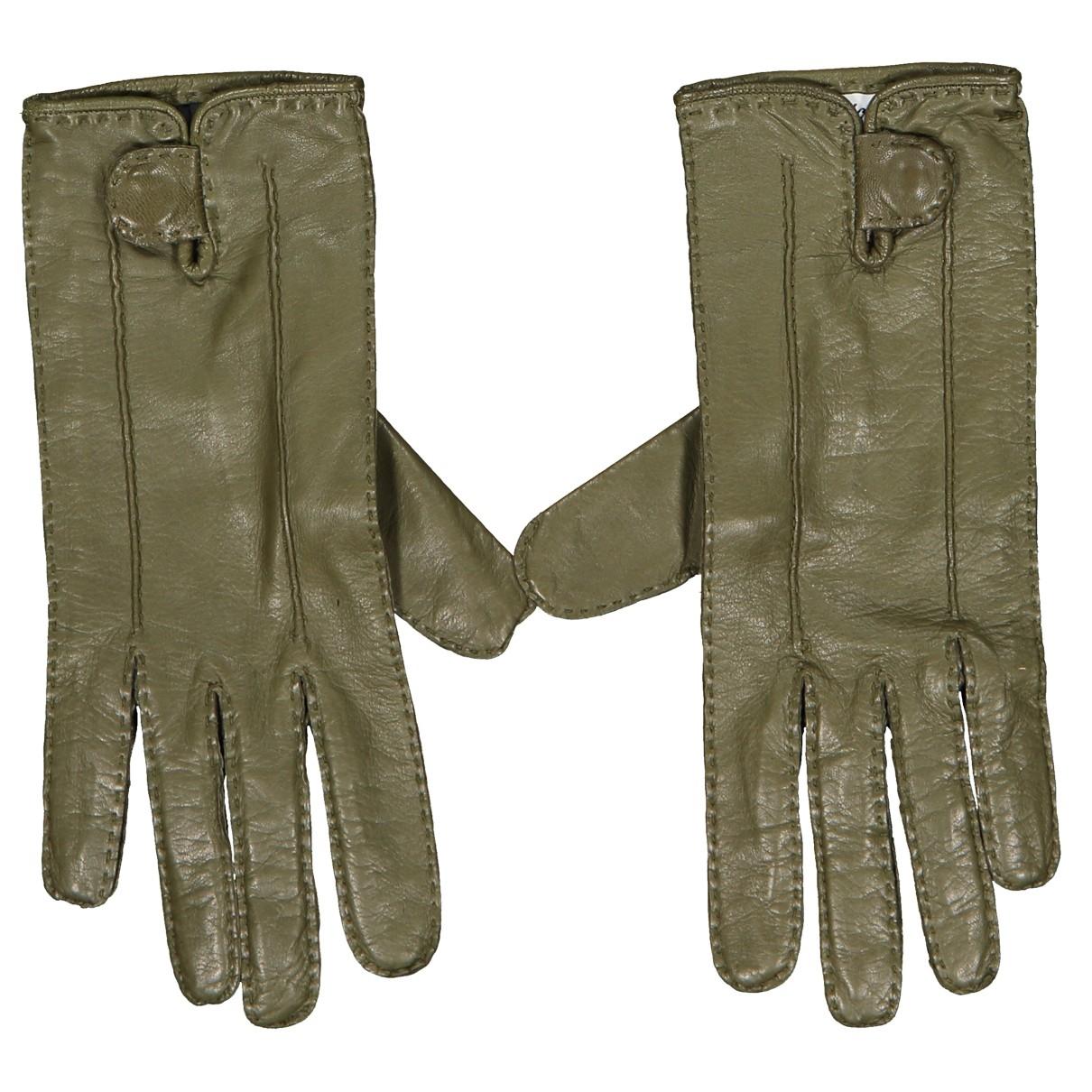 Brioni \N Handschuhe in  Gruen Leder