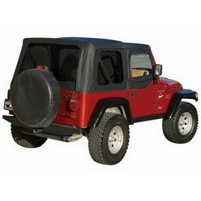 Rampage Factory Replacement Soft Top with Clear Windows and Door Uppers (Black Denim) - 99715