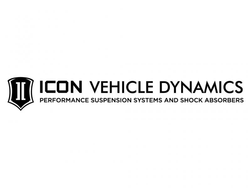 ICON Vehicle Dynamics 25 IN WIDE ICON TAGLINE SILVER