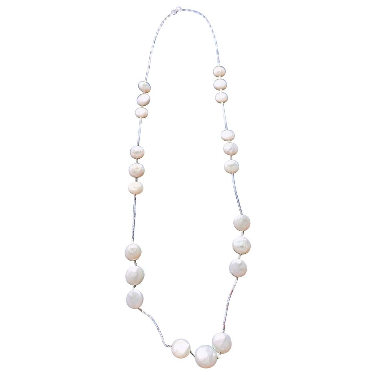 - Sautoir   pour femme en perle - blanc