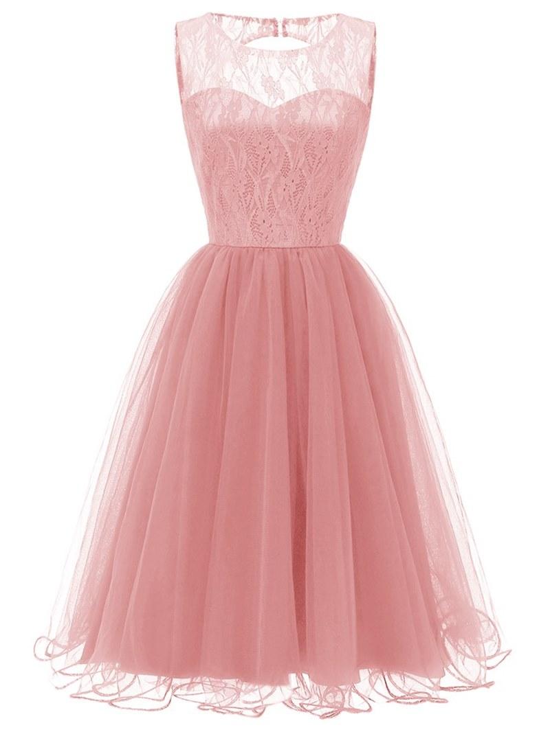 Ericdress Sleeveless Lace A-Line Women's Party Dress