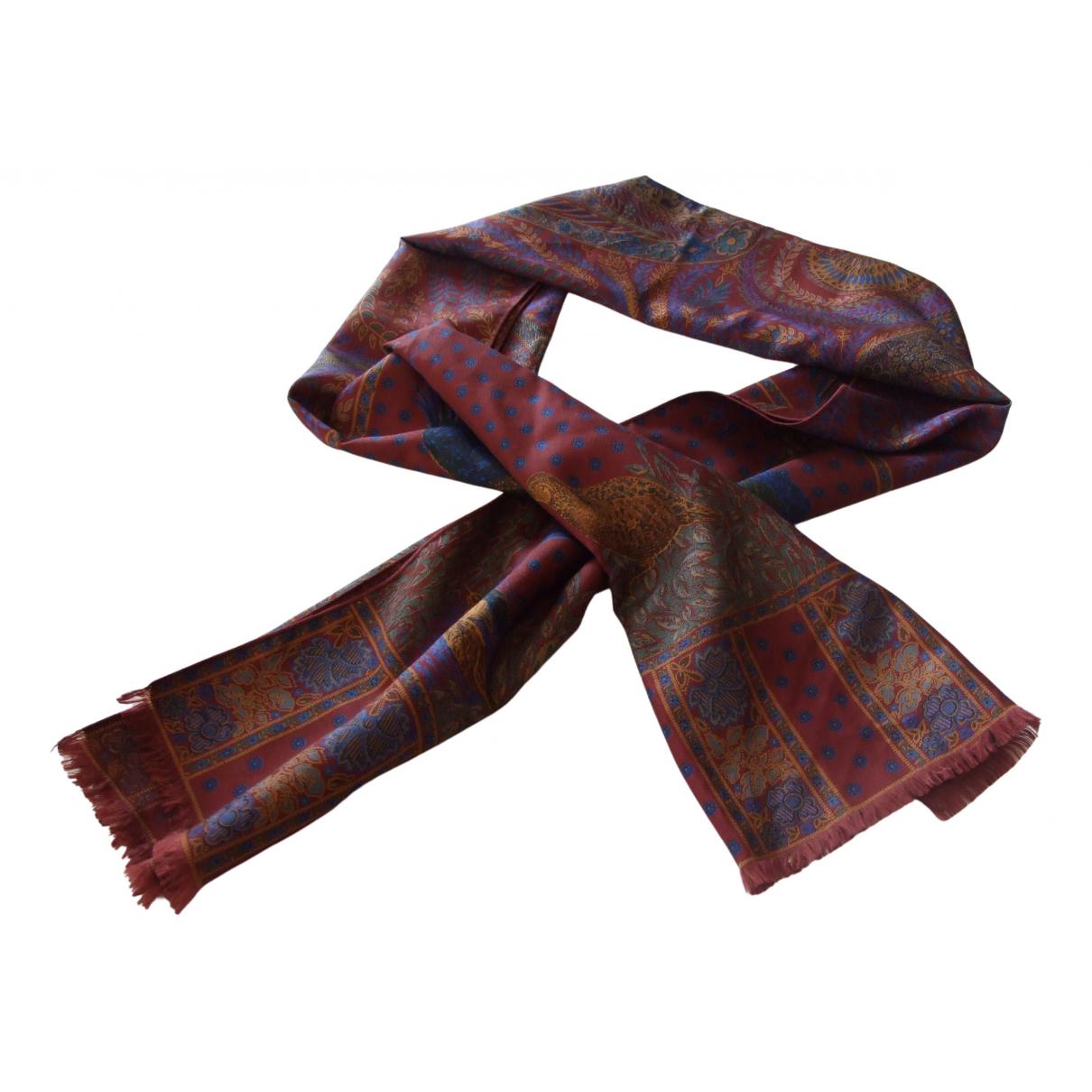 - Foulard   pour femme en soie - bordeaux