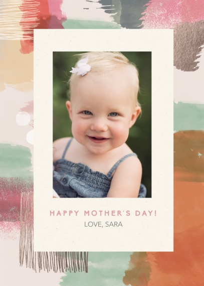 Mother's Day Cards 5x7 Folded Cards, Standard Cardstock 85lb, Card & Stationery -Watercolor Mother's Day