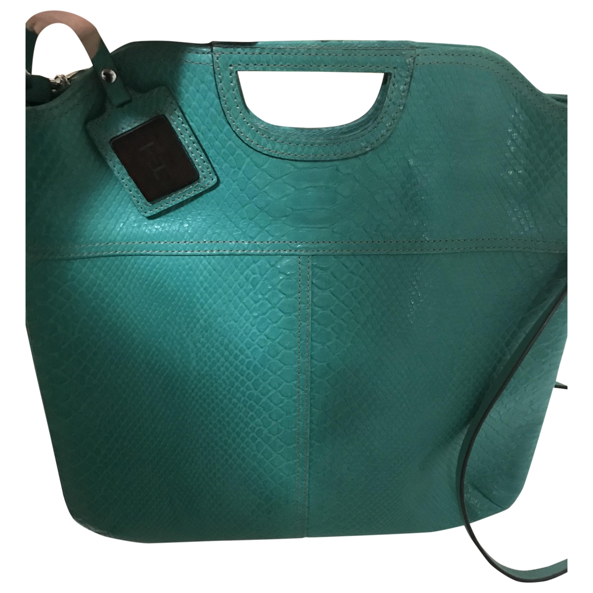 Tommy Hilfiger \N Handtasche in  Gruen Leder
