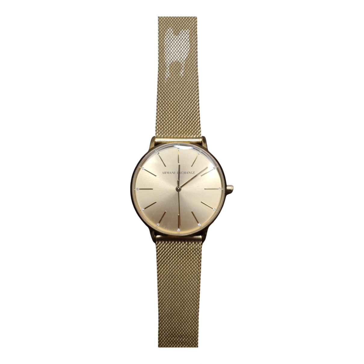Emporio Armani \N Uhr in  Gold Stahl
