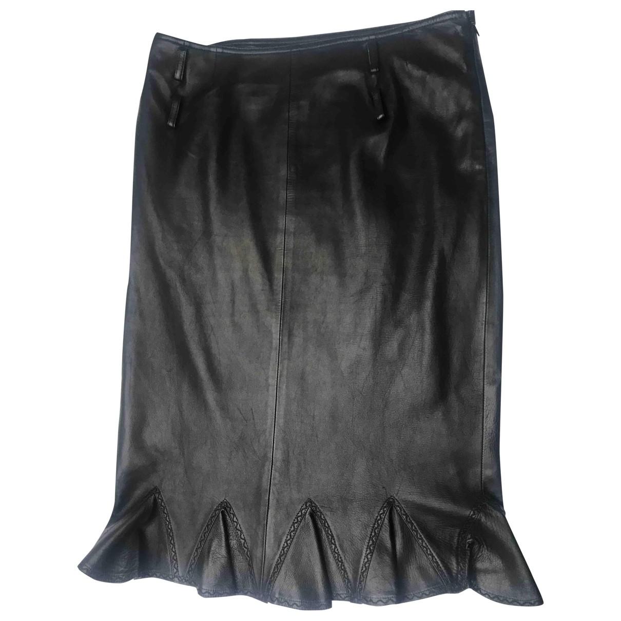 Dior \N Rocke in  Schwarz Leder