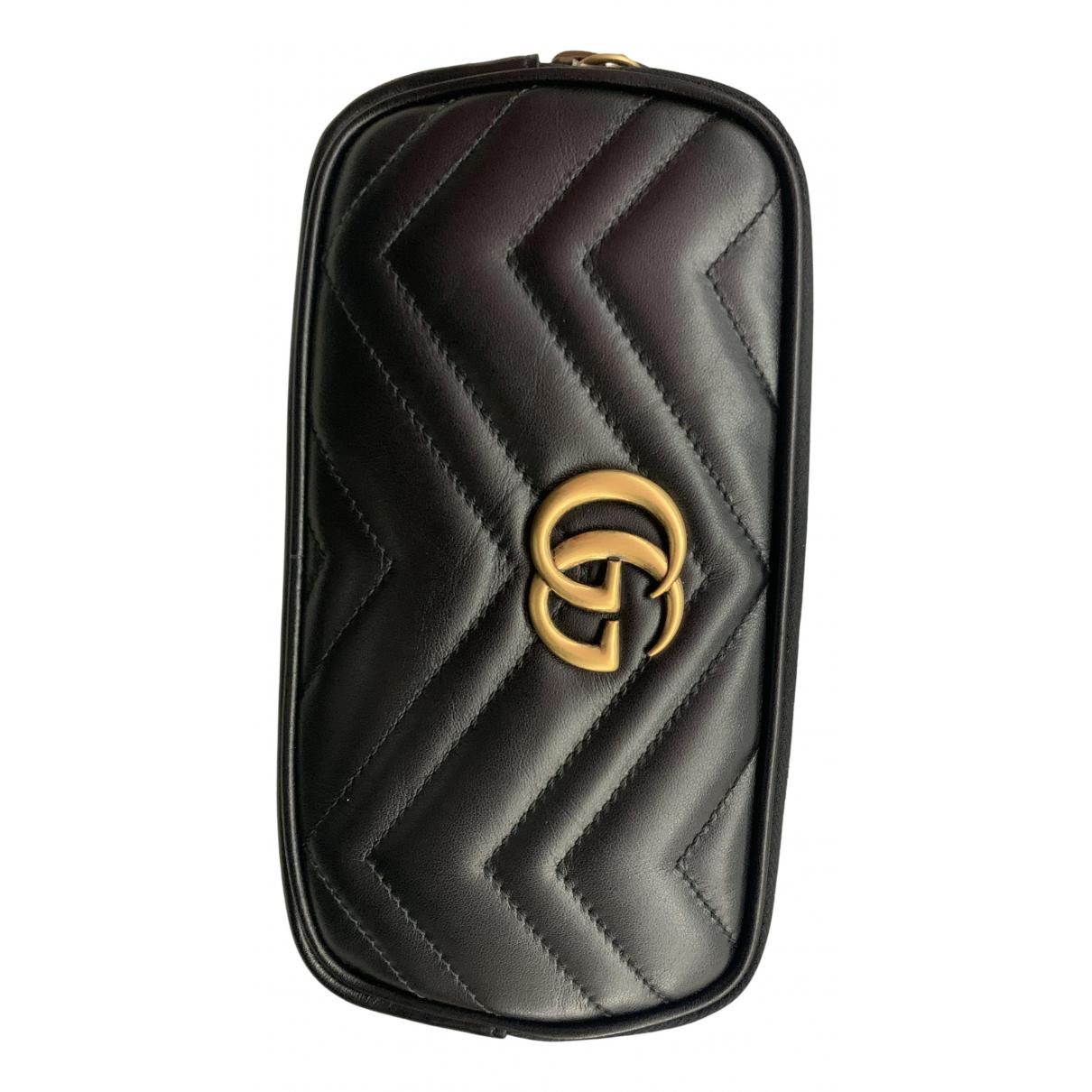 Gucci - Sac a main Marmont pour femme en cuir - noir