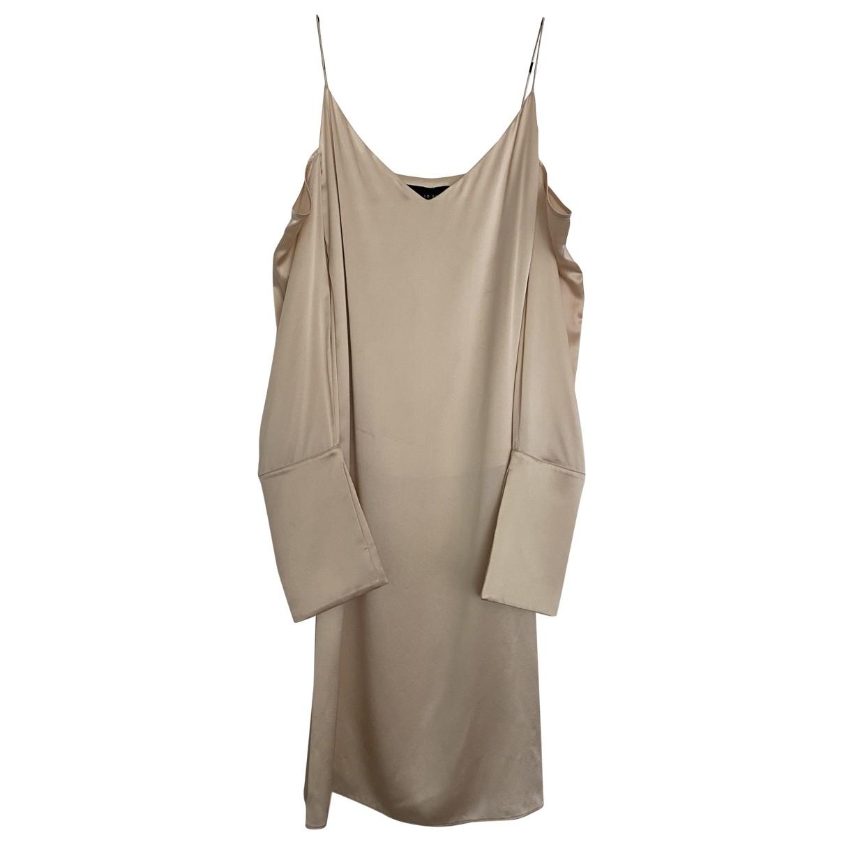 Michael Lo Sordo \N Kleid in  Beige Seide
