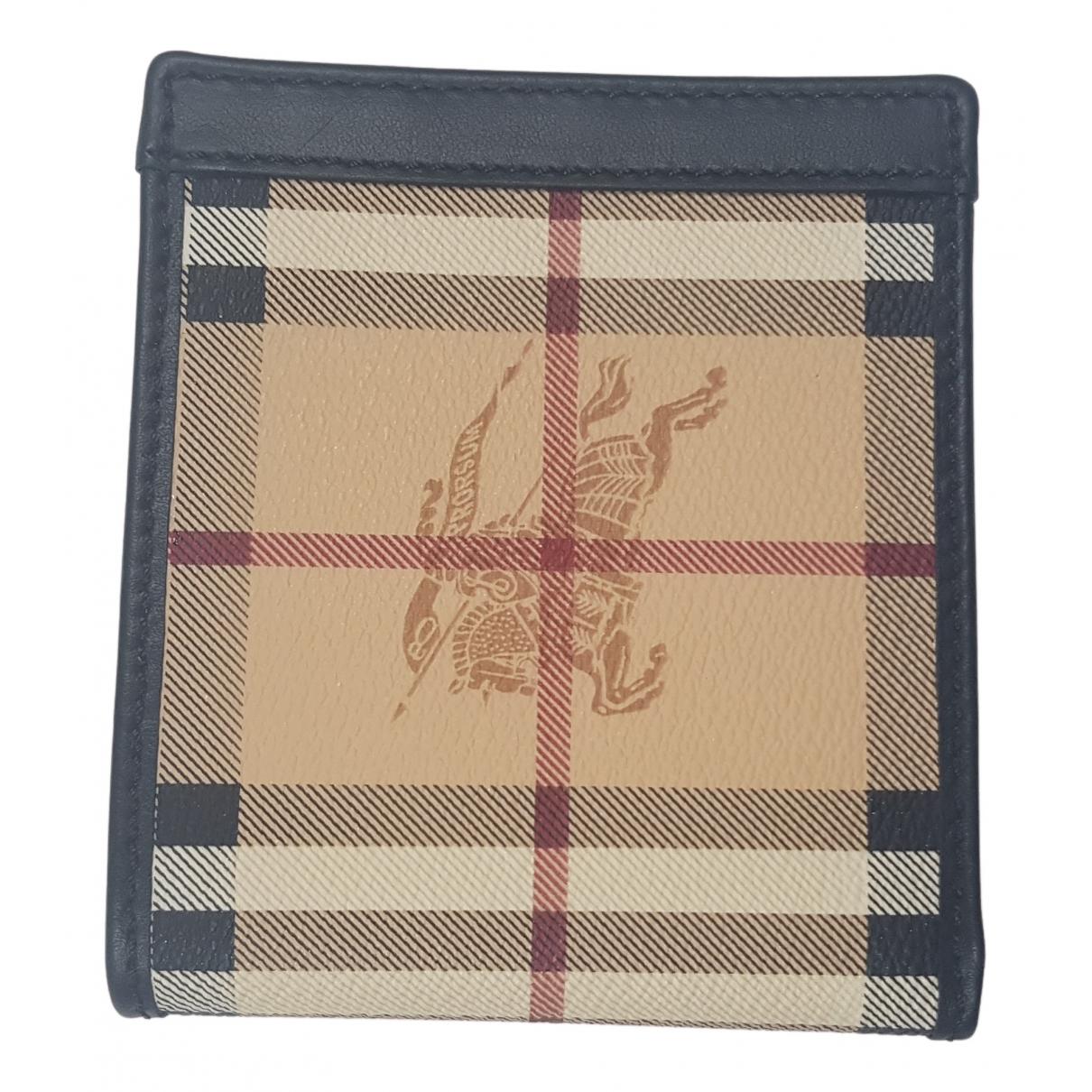 Burberry - Petite maroquinerie   pour homme en cuir - beige