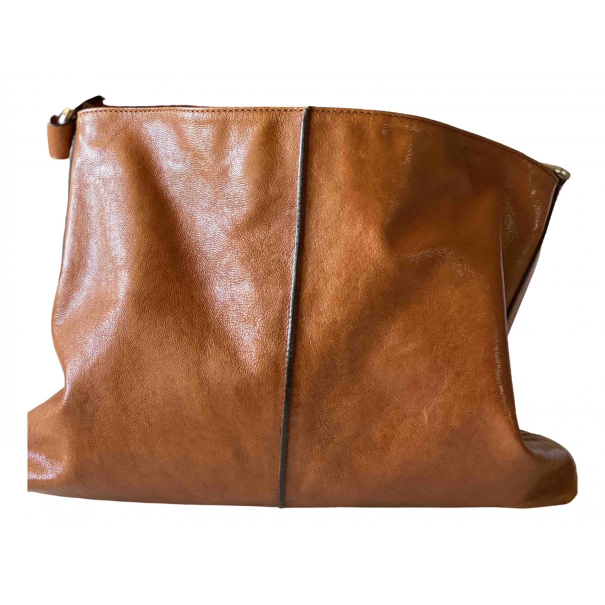 Hogan - Sac a main   pour femme en cuir - marron