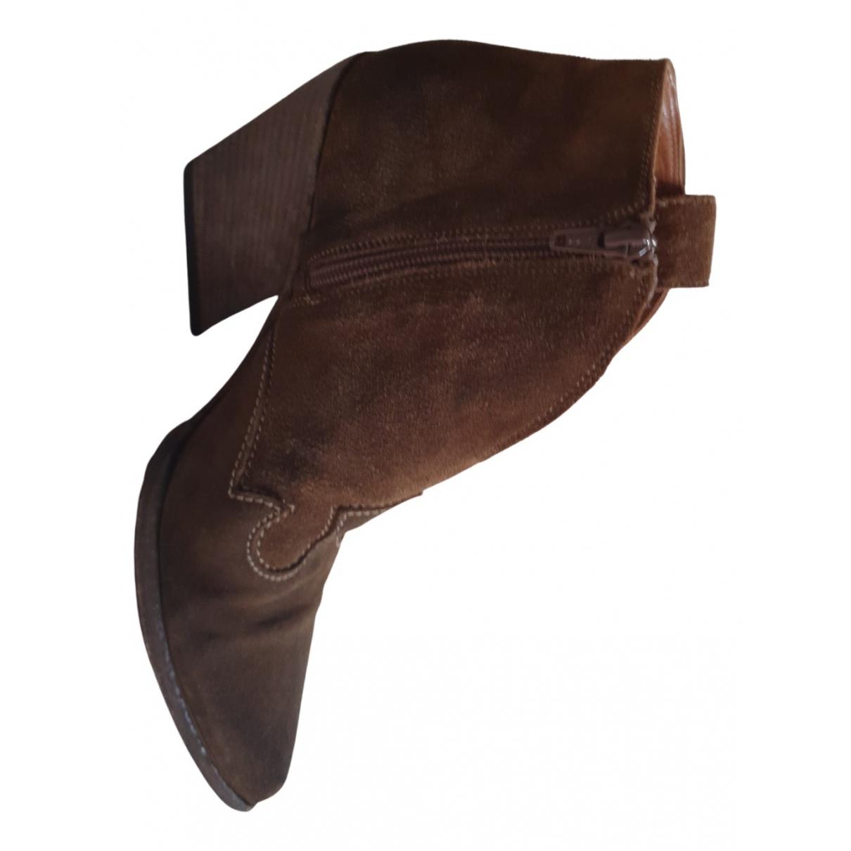 Elena Iachi - Boots   pour femme en veau facon poulain - marron
