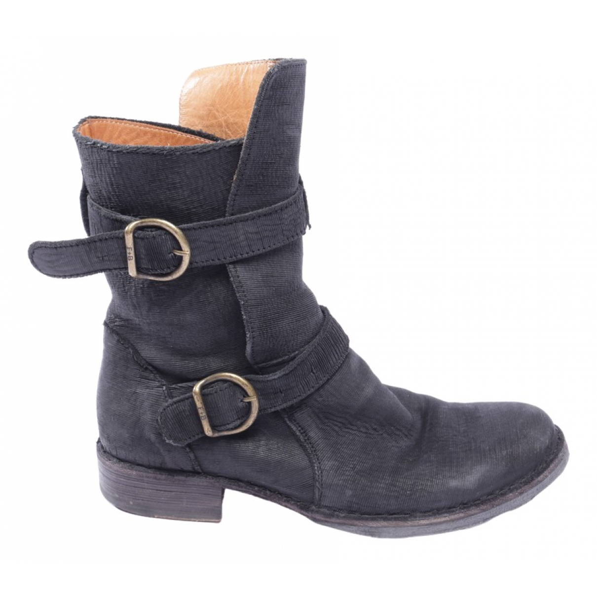 Fiorentini+baker \N Black Leather Ankle boots for Women 38 EU