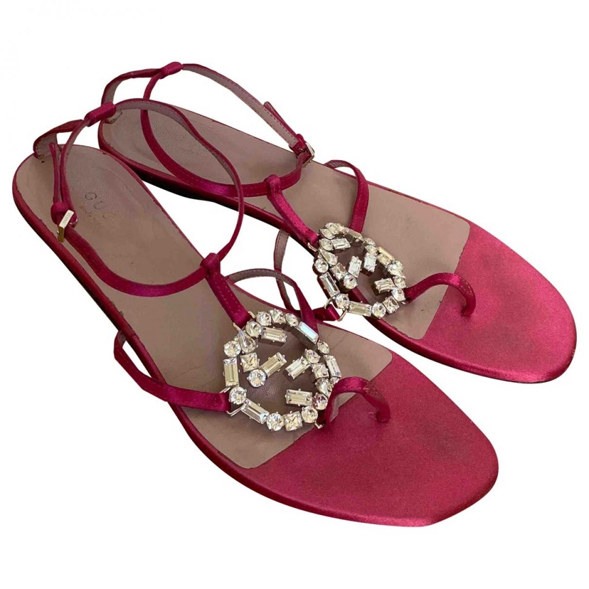 Gucci \N Pink Cloth Sandals for Women 38 EU
