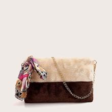 Tasche mit Twilly Schal Dekor