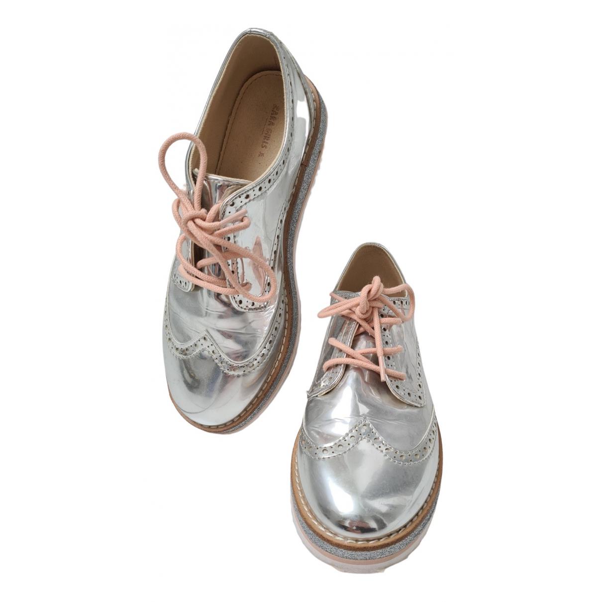 Zara \N Silver Lace ups for Women 36 EU