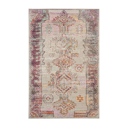 Safavieh Crystal Collection Wyatt Oriental Area Rug, One Size , Multiple Colors
