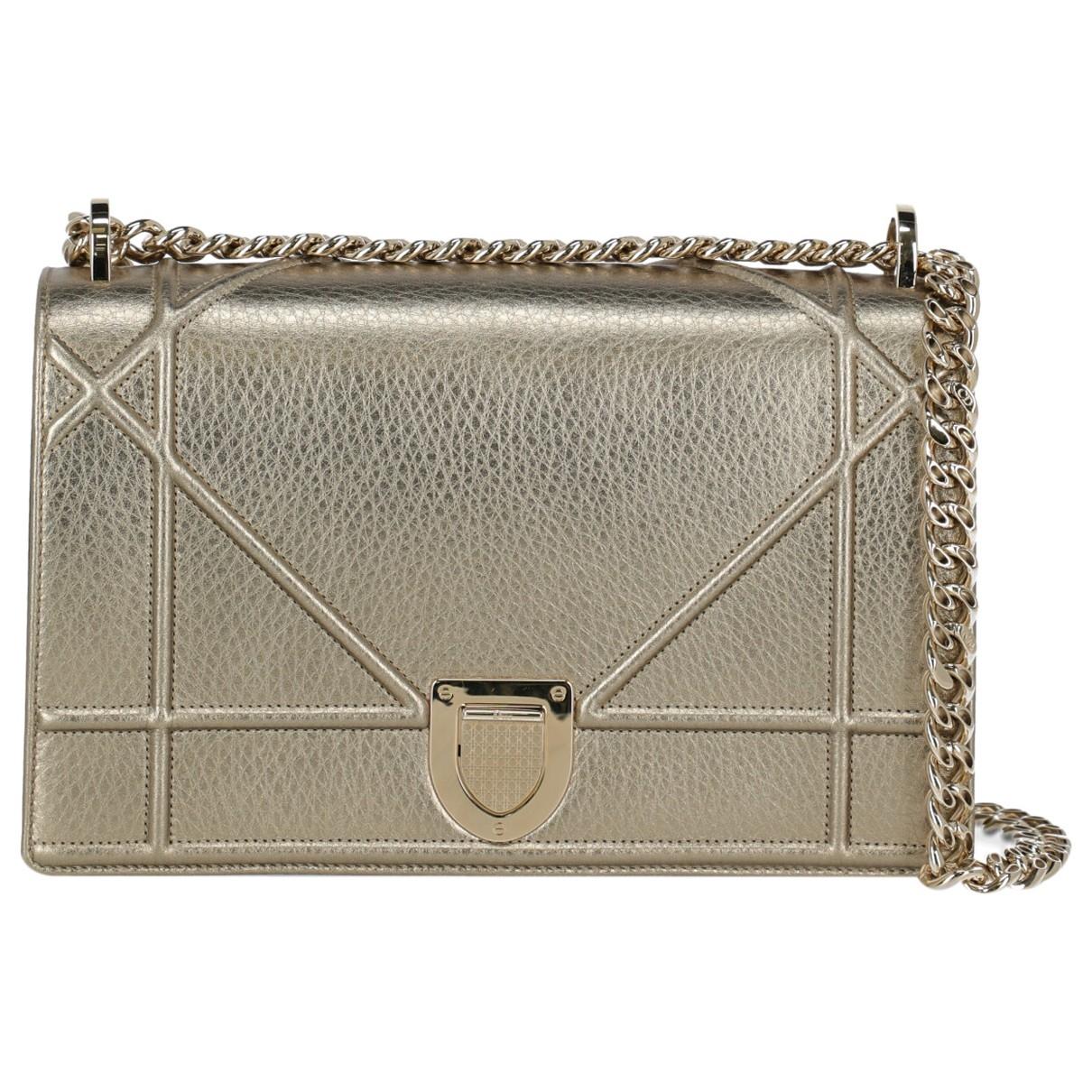 Dior Diorama Gold Leather handbag for Women \N