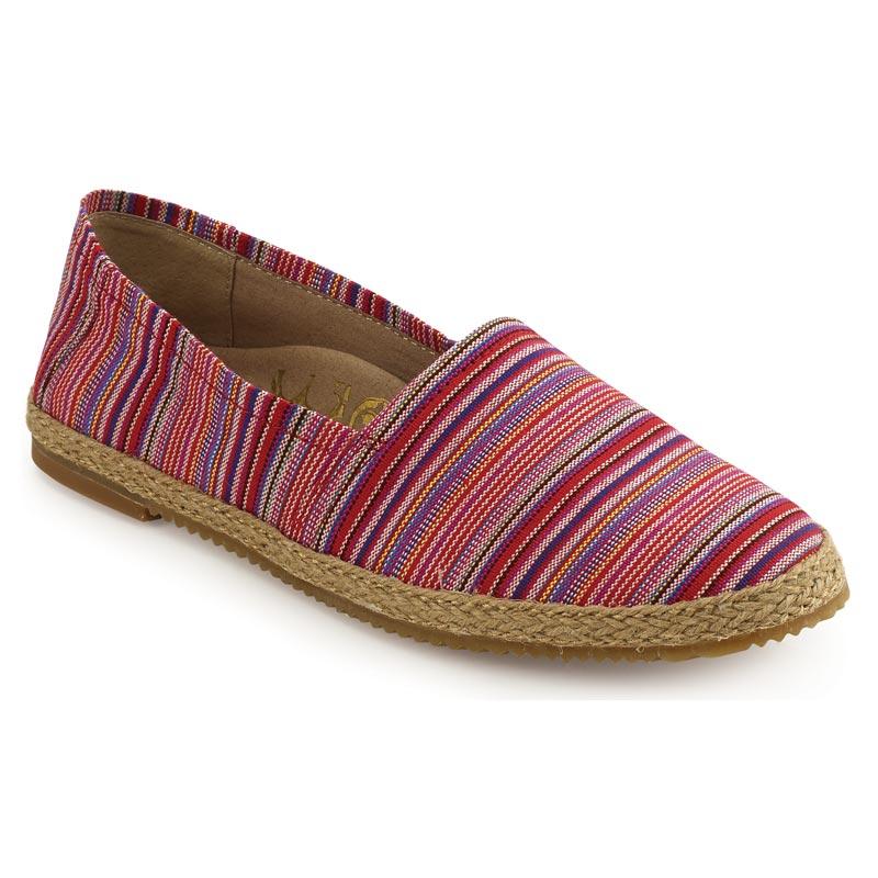 Aetrex Kylie Pink Stripe Textile 38