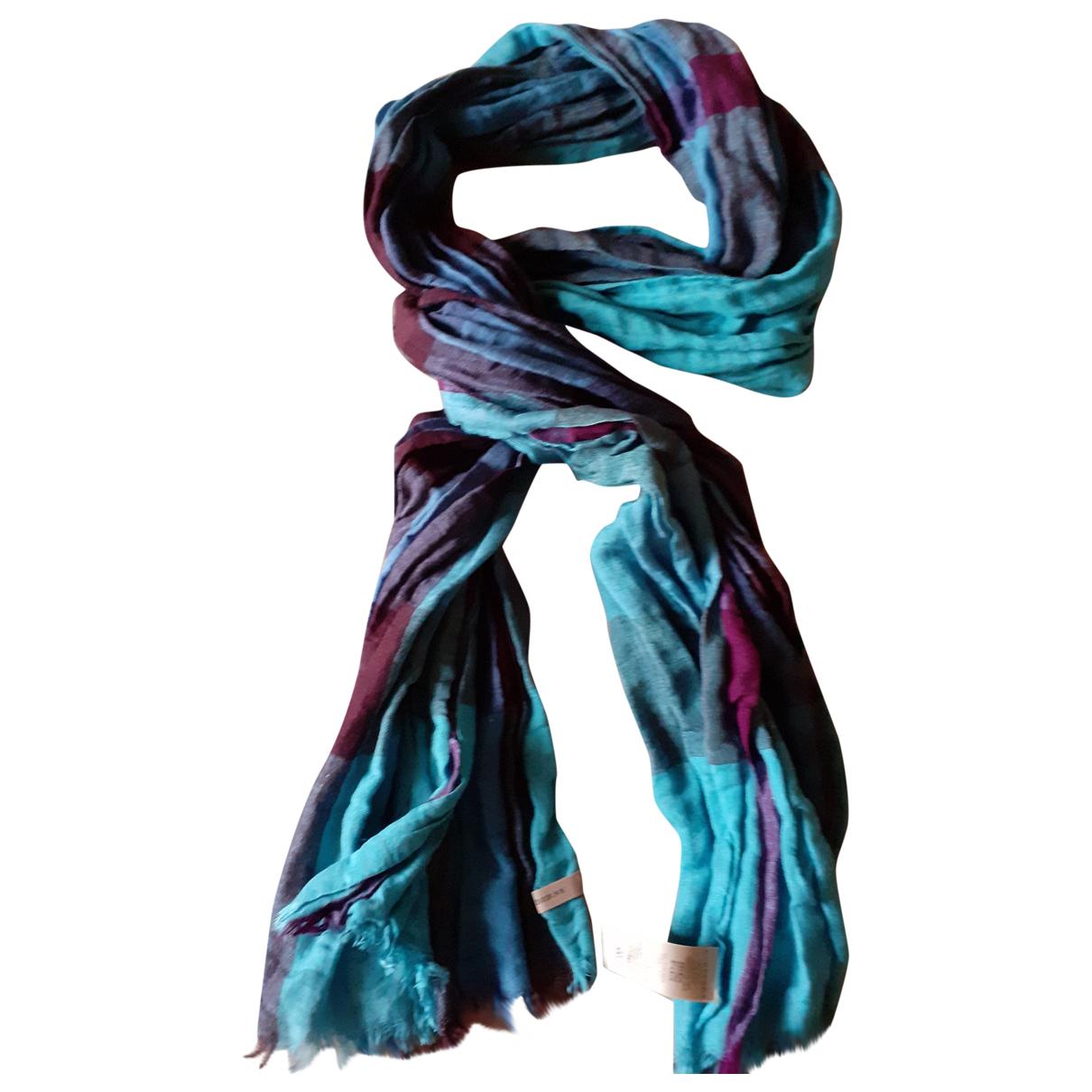 Burberry \N Blue Linen scarf for Women \N