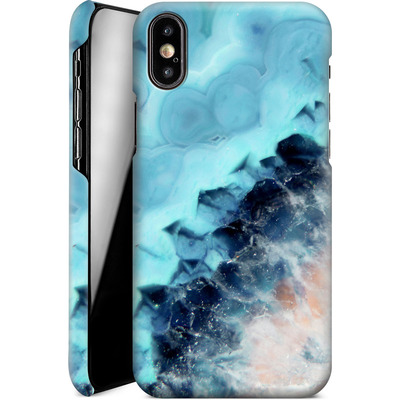 Apple iPhone XS Smartphone Huelle - Ocean Agate von Emanuela Carratoni