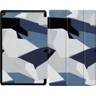Amazon Fire HD 10 (2017) Tablet Smart Case - Geometric Camo Blue von caseable Designs