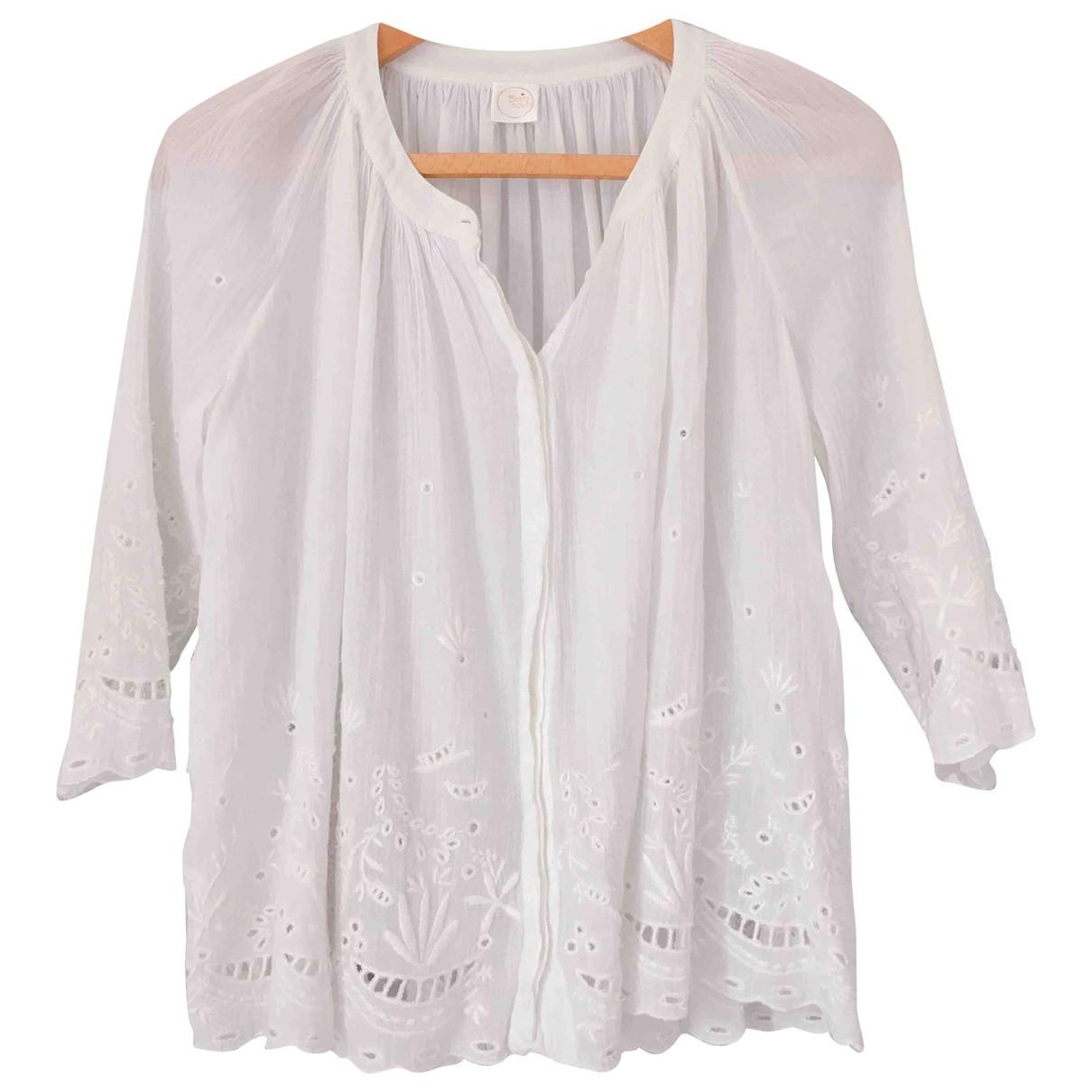 Des Petits Hauts \N White Cotton  top for Women 36 FR