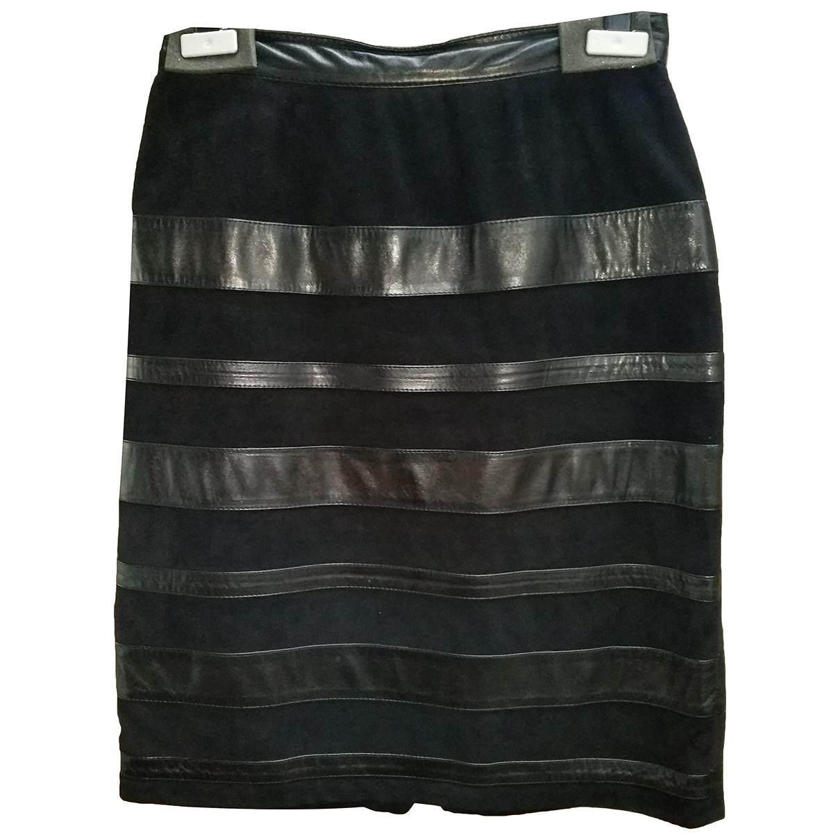 Dior N Black Leather skirt for Women 42 FR