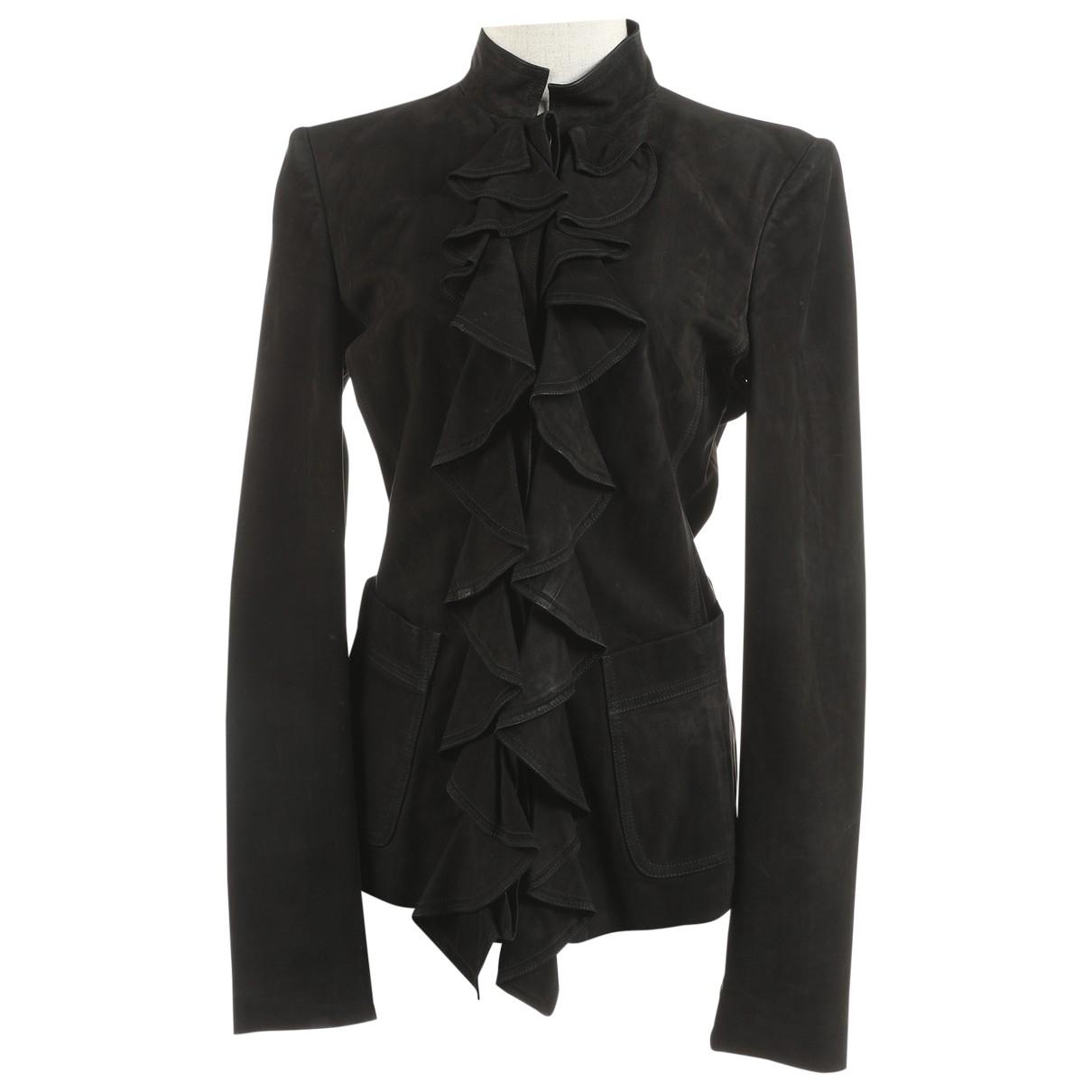 Yves Saint Laurent \N Black Leather jacket for Women 36 IT
