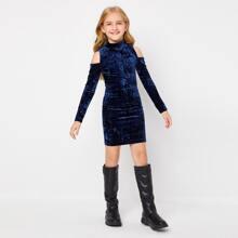 Vestidos para niñas Cut-out Liso Glamour