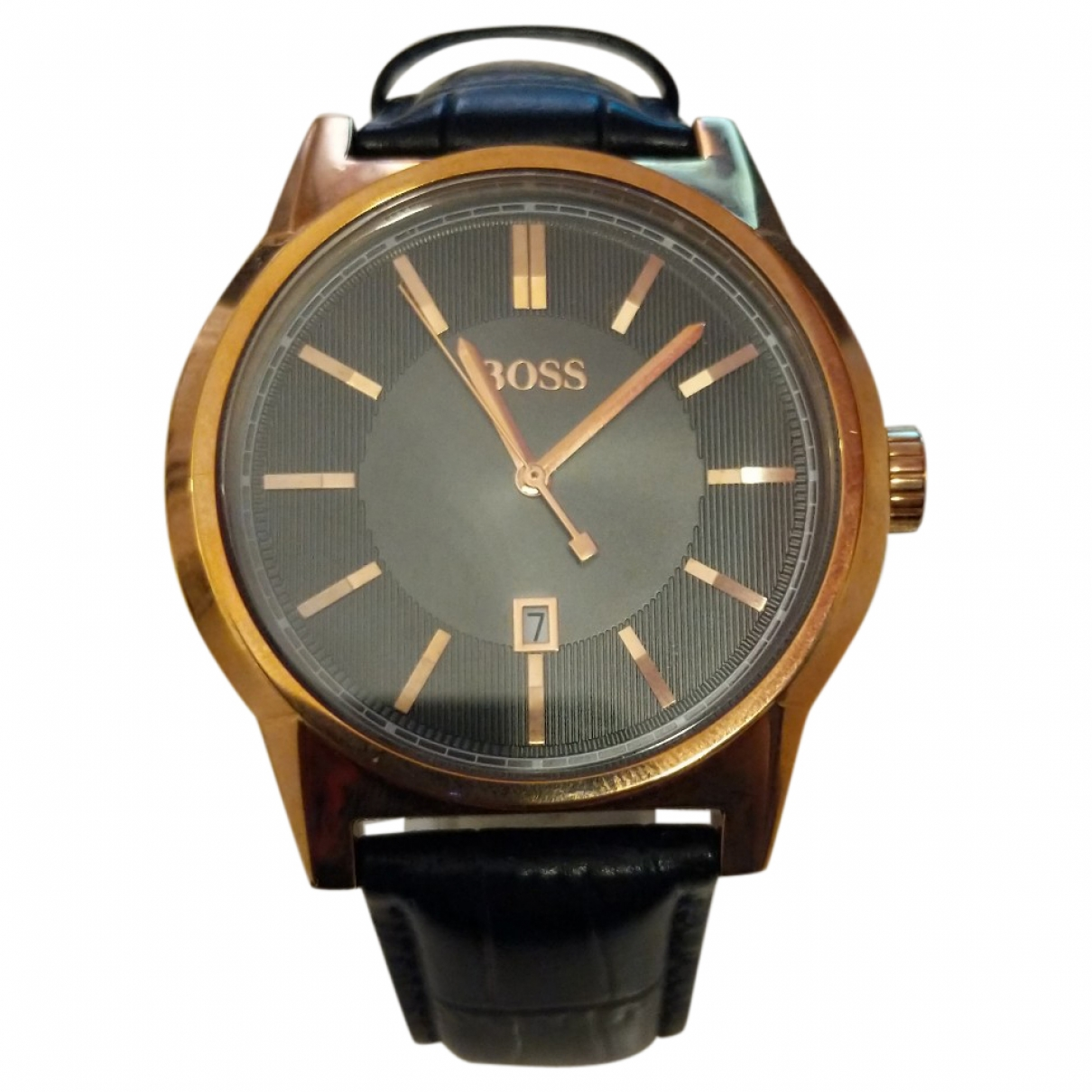 Boss \N Uhr in  Braun Stahl