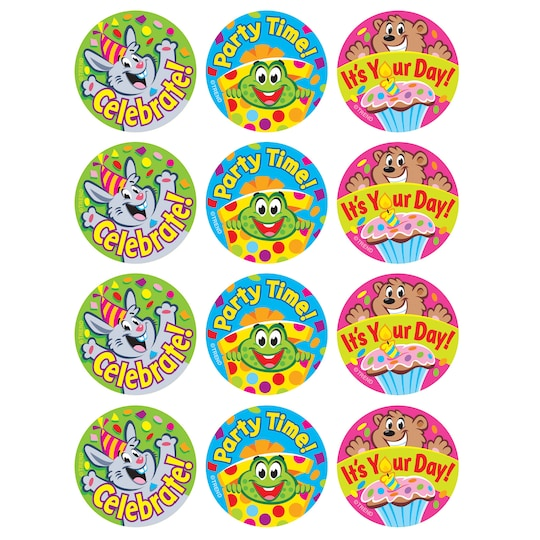 6 Pack of Trend It's A Party Vanilla Scented Stinky Stickers®, 48Ct. | Michaels®