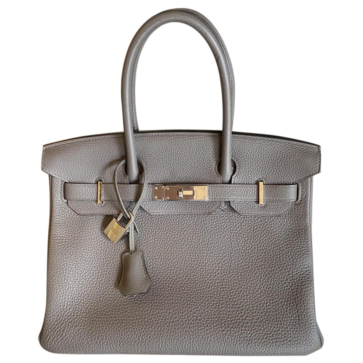 Hermès Birkin 30 Grey Leather handbag for Women N