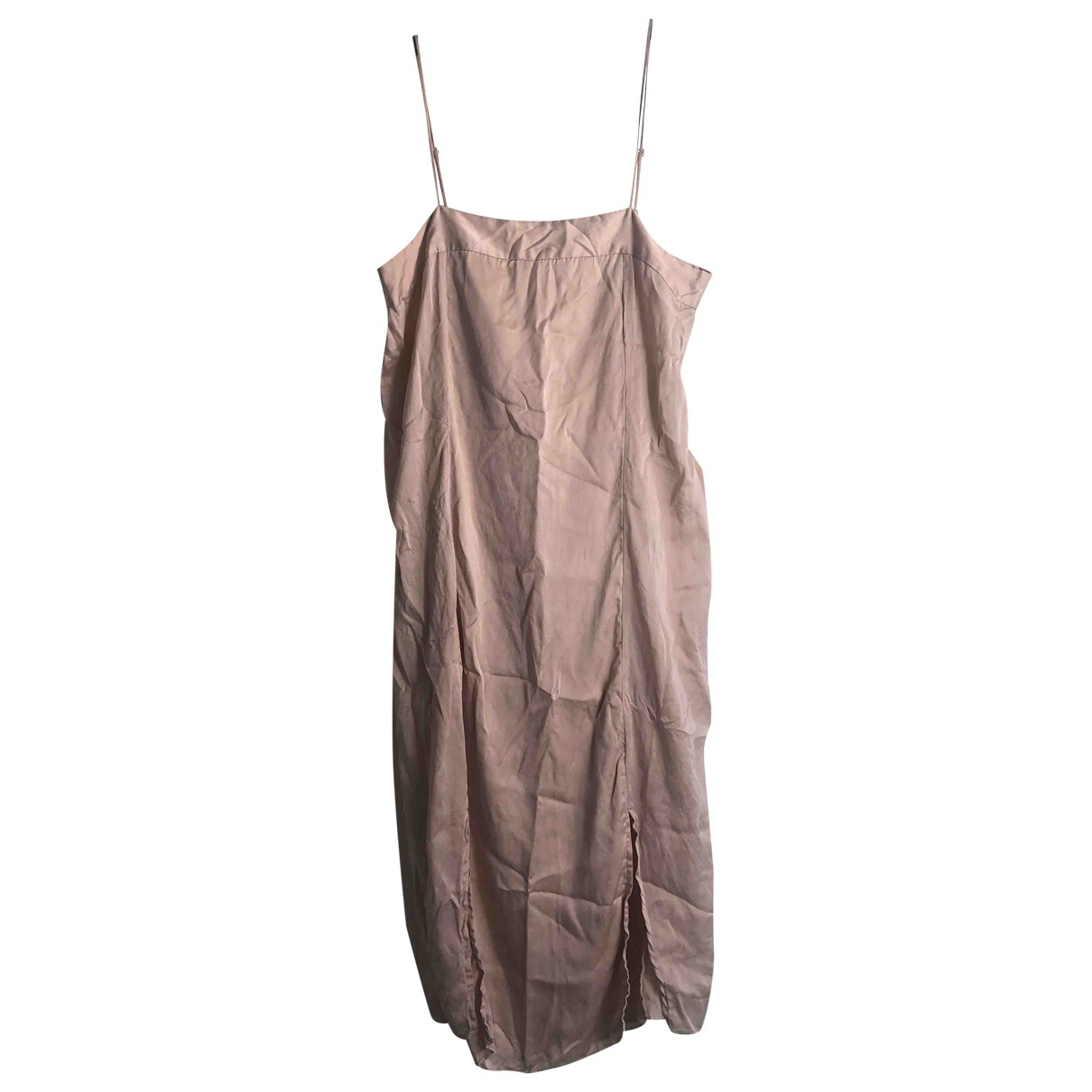 Equipment - Robe   pour femme en soie - rose
