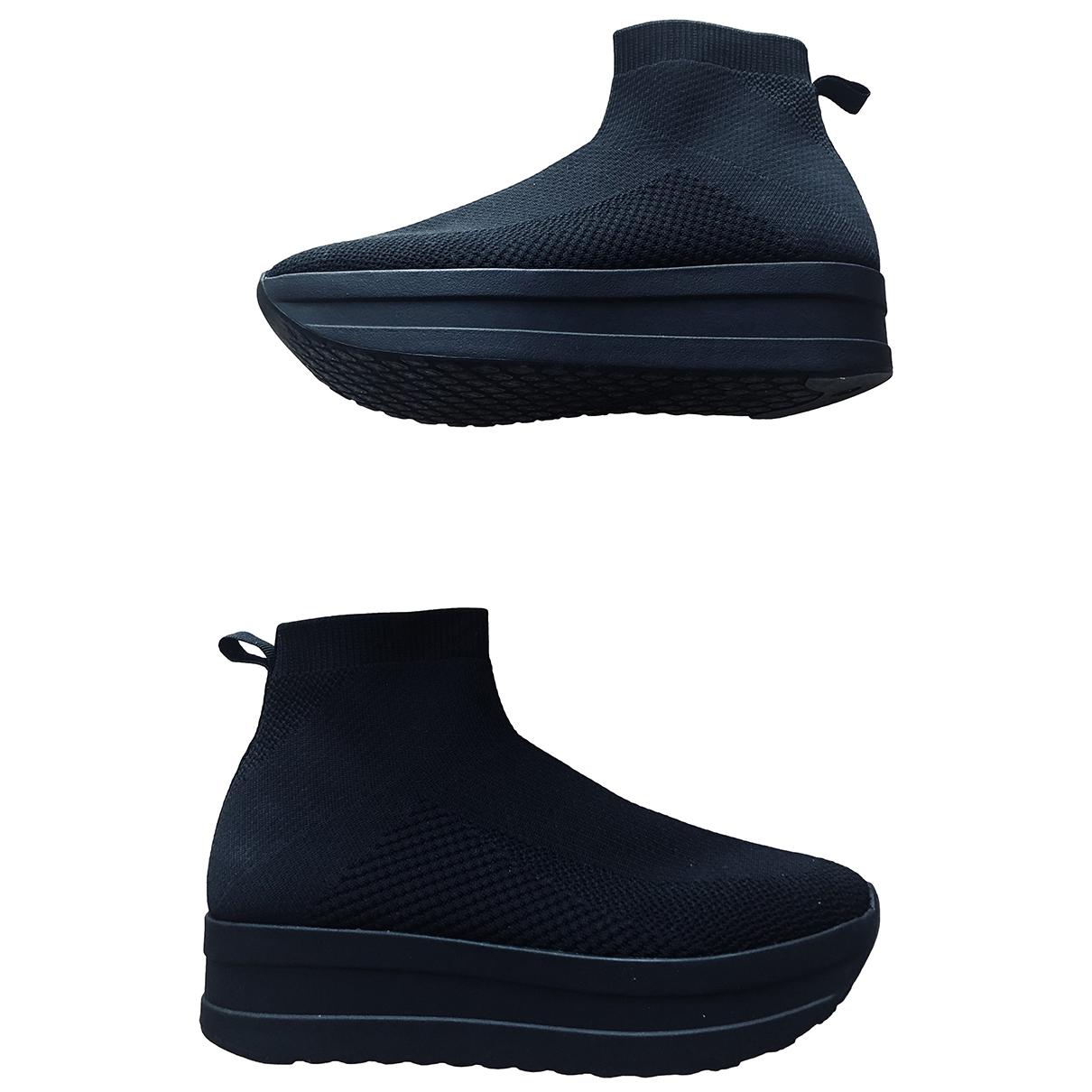 Vagabond - Boots   pour femme en toile - noir