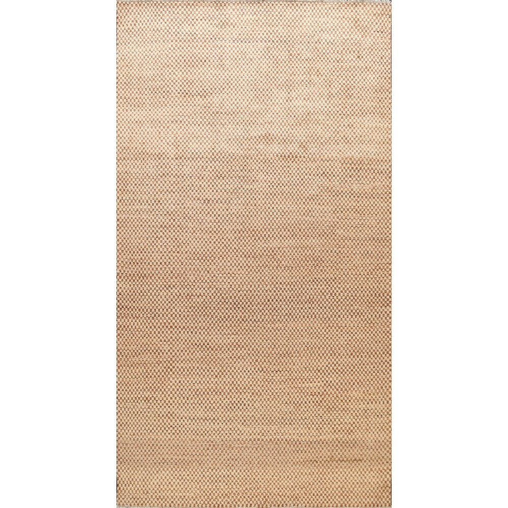 Checkered Gabbeh Kashkoli Oriental Wool Area Rug Hand-knotted - 6'4